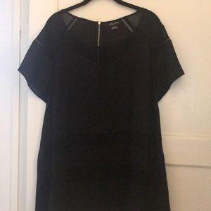 City Chic black shirt sleeve top, 22W